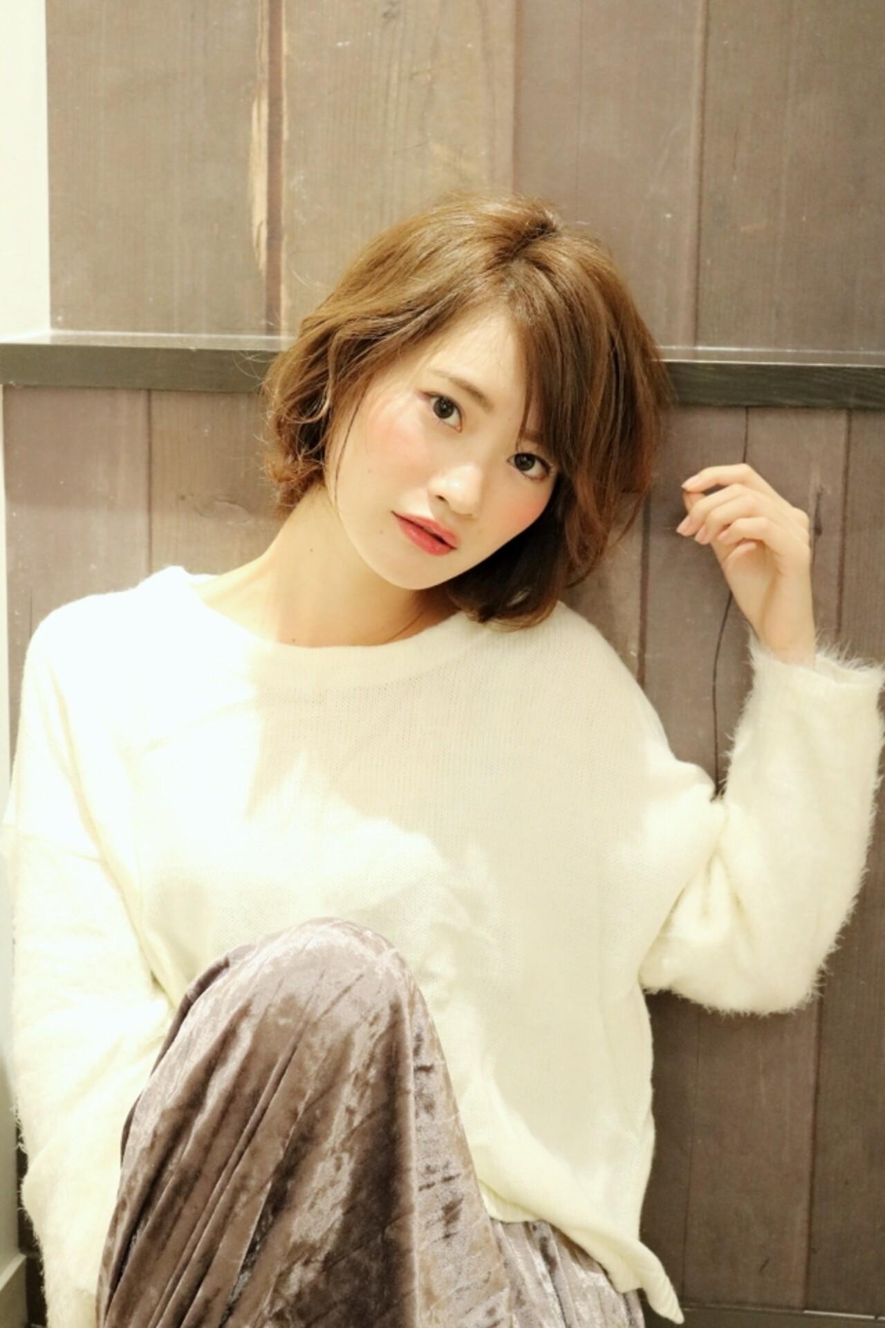かわいい ショート フェミニン ヘアスタイルや髪型の写真・画像 | ☆高橋 真理☆ / Acmi