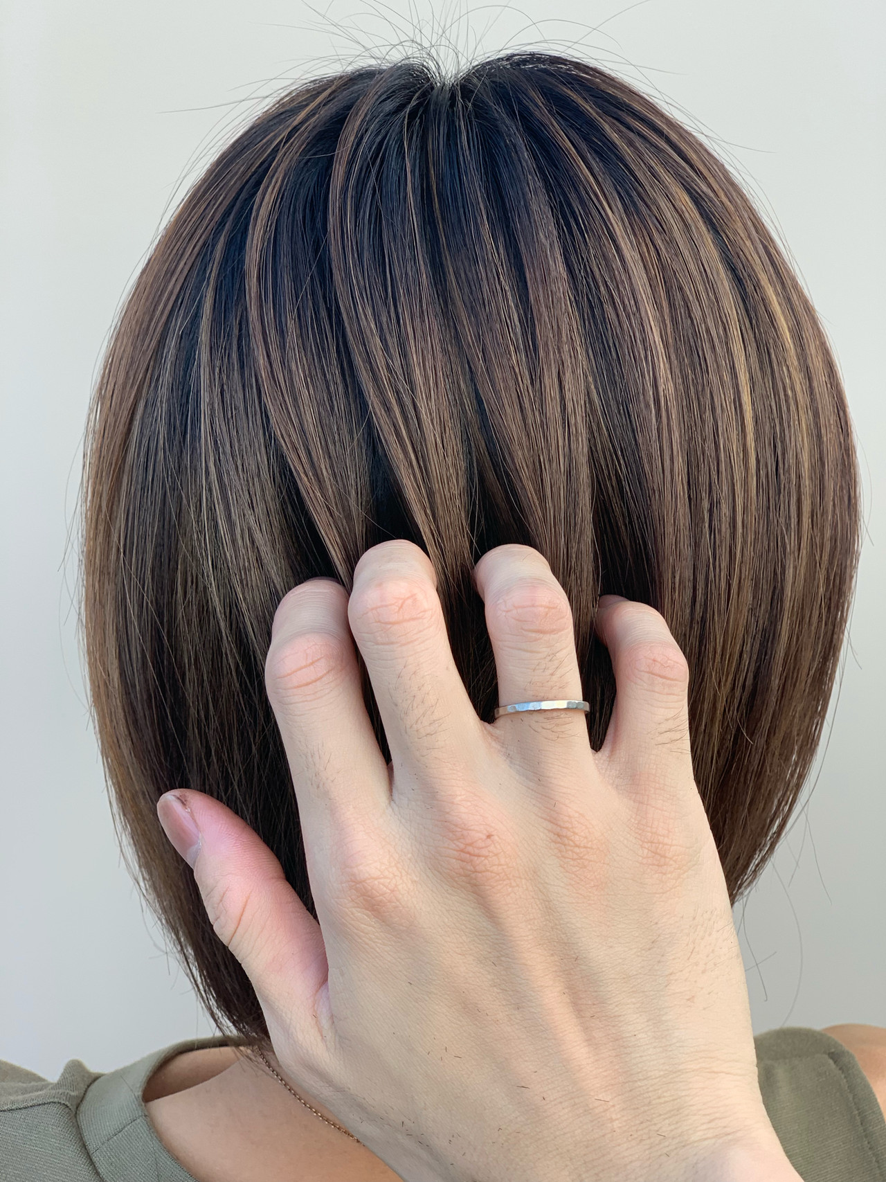 ボブ 外国人風 グラデーションカラー 大人ハイライト ヘアスタイルや髪型の写真・画像 | 大越 勇嗣 / VISAGE Oak