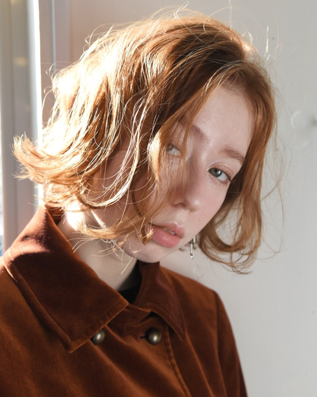 外国人風 ボブ パーマ ナチュラル ヘアスタイルや髪型の写真・画像 | 山口 華絵 Lépés Nakameguro / Lépés