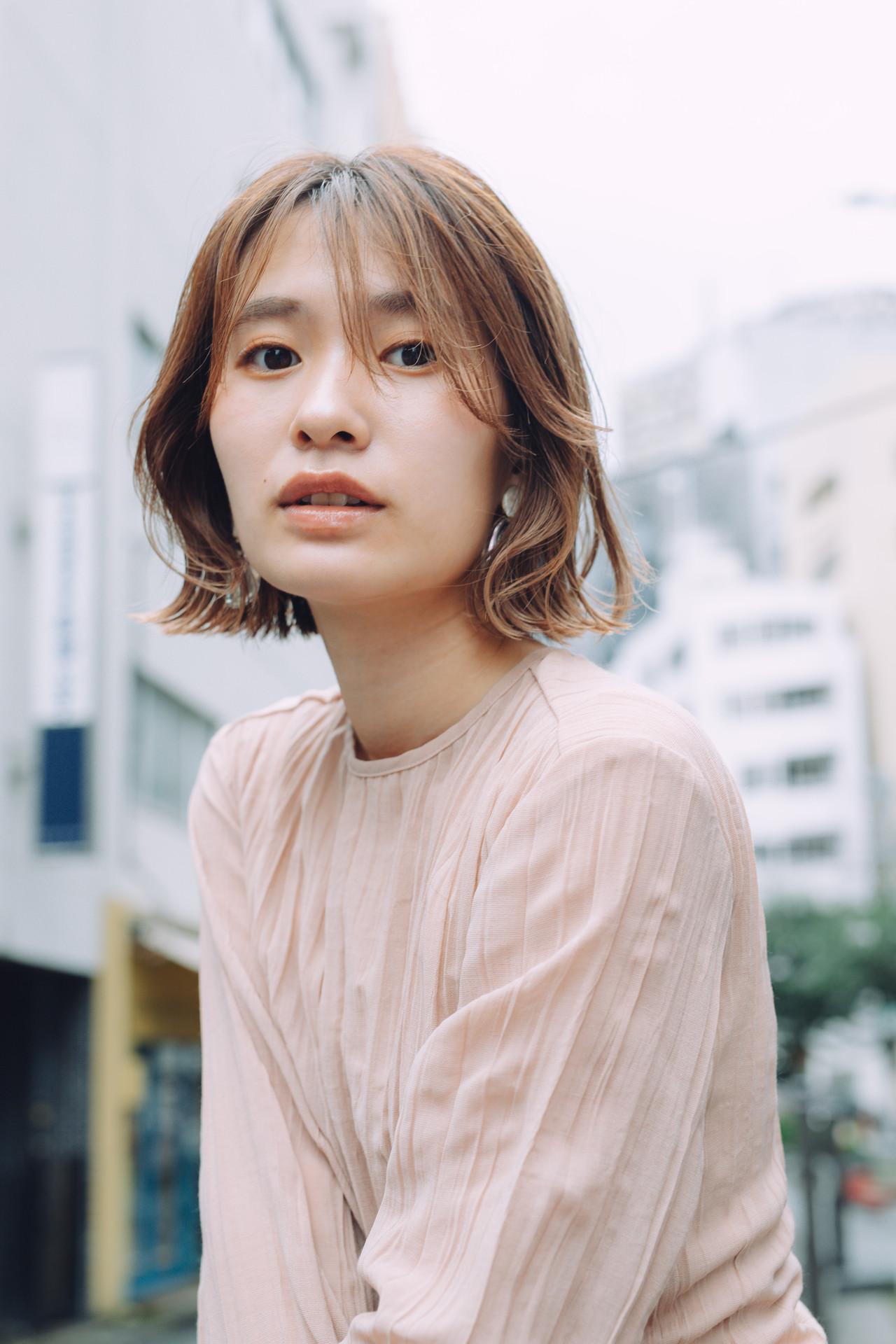 外ハネボブ ミニボブ  切りっぱなしボブ ヘアスタイルや髪型の写真・画像 | 児玉善央 / GARDEN harajuku