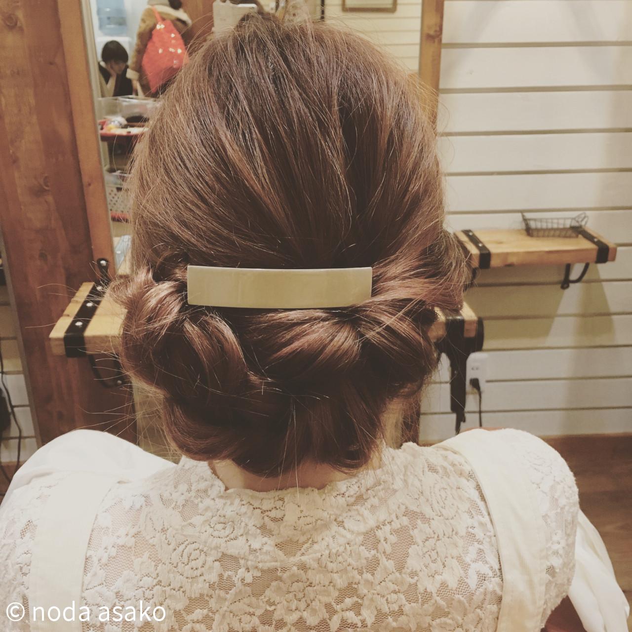 大人女子 編み込み 結婚式 ロング ヘアスタイルや髪型の写真・画像 | noda asako / Lily