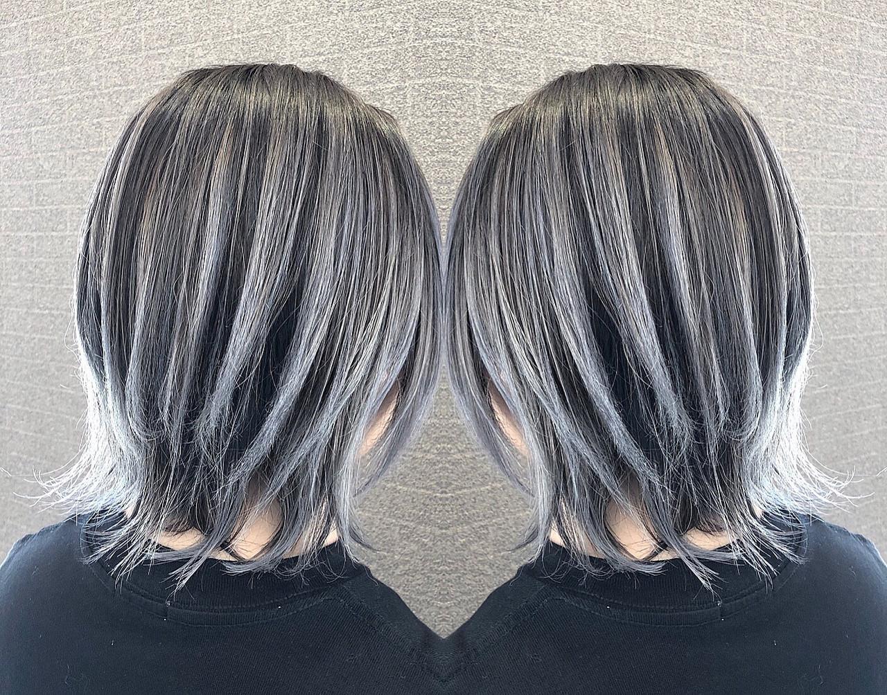 ショート 外国人風カラー 外国人風 バレイヤージュ ヘアスタイルや髪型の写真・画像 | アンドウ ユウ / agu hair edge