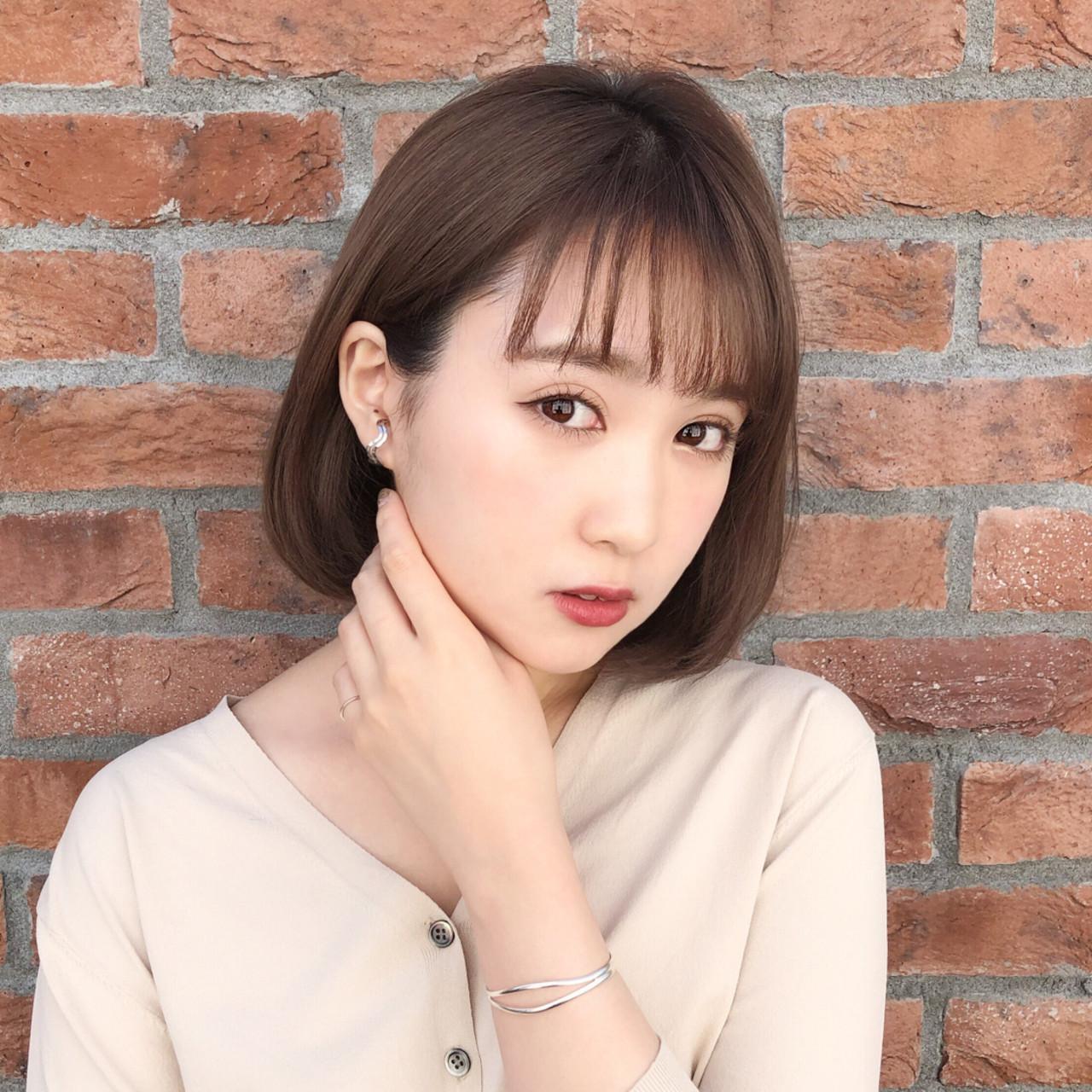 大人かわいい 大人女子 デート モテボブ ヘアスタイルや髪型の写真・画像 | 趙 英来 (よん) / nex