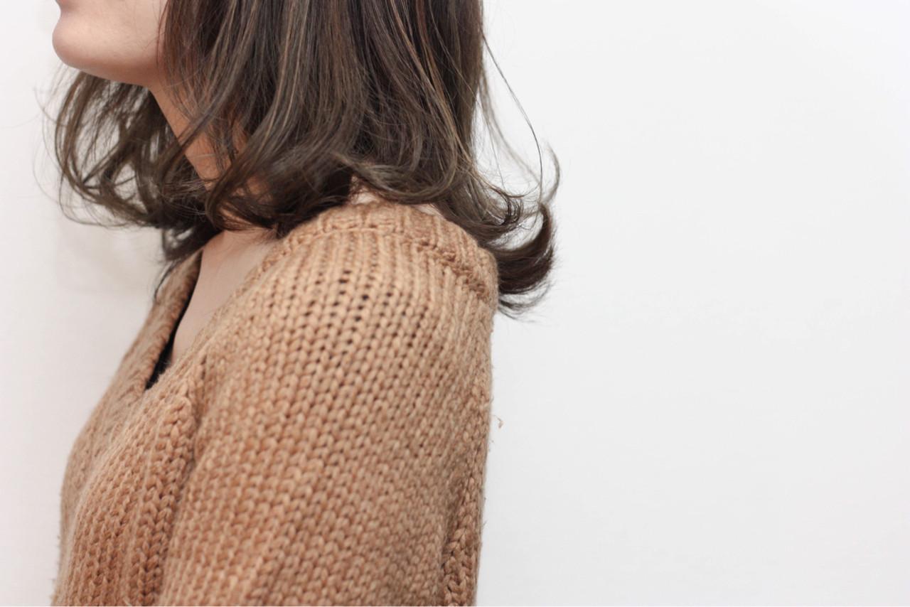 ボブ ミディアム 大人女子 色気 ヘアスタイルや髪型の写真・画像 | Hiroshi Kuroe 尼崎 / K'LipbyTAL'KE