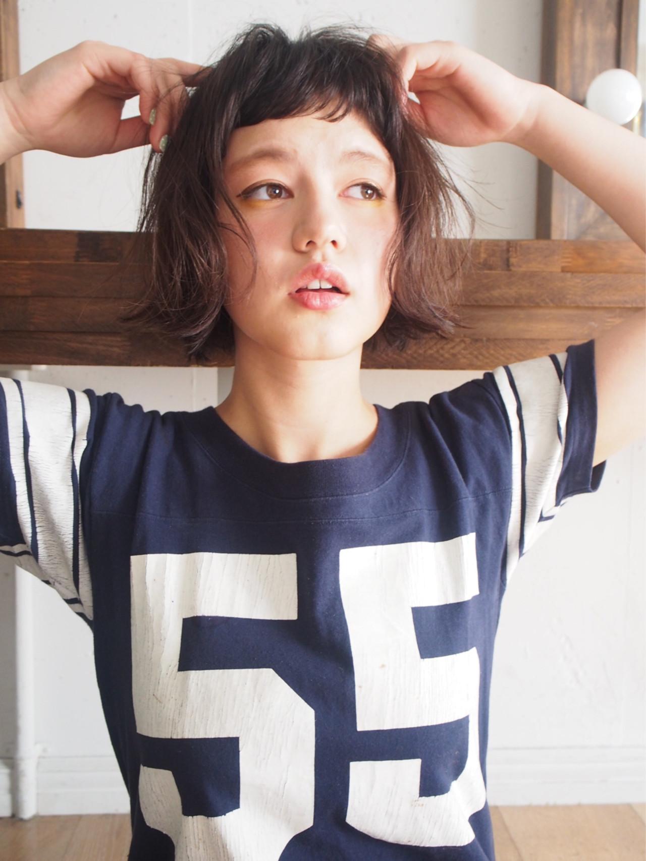 前髪あり レイヤーカット ストリート パーマ ヘアスタイルや髪型の写真・画像 | 一色 さおり / LOAVE AOYAMA(ローブ アオヤマ)