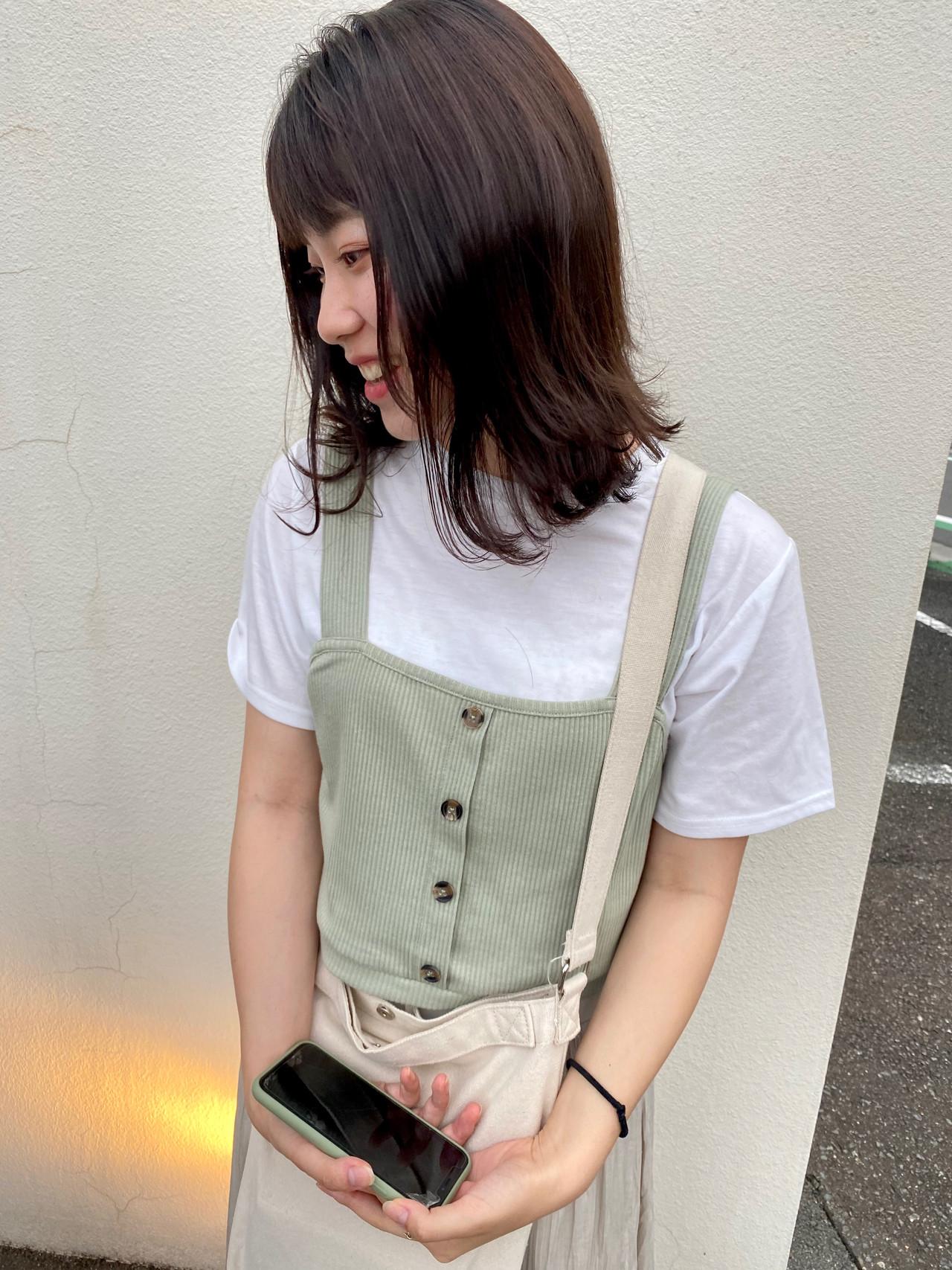 ナチュラル ミディアム 外ハネ 鎖骨ミディアム ヘアスタイルや髪型の写真・画像 | 増田智仁 / マニスオブヘアー