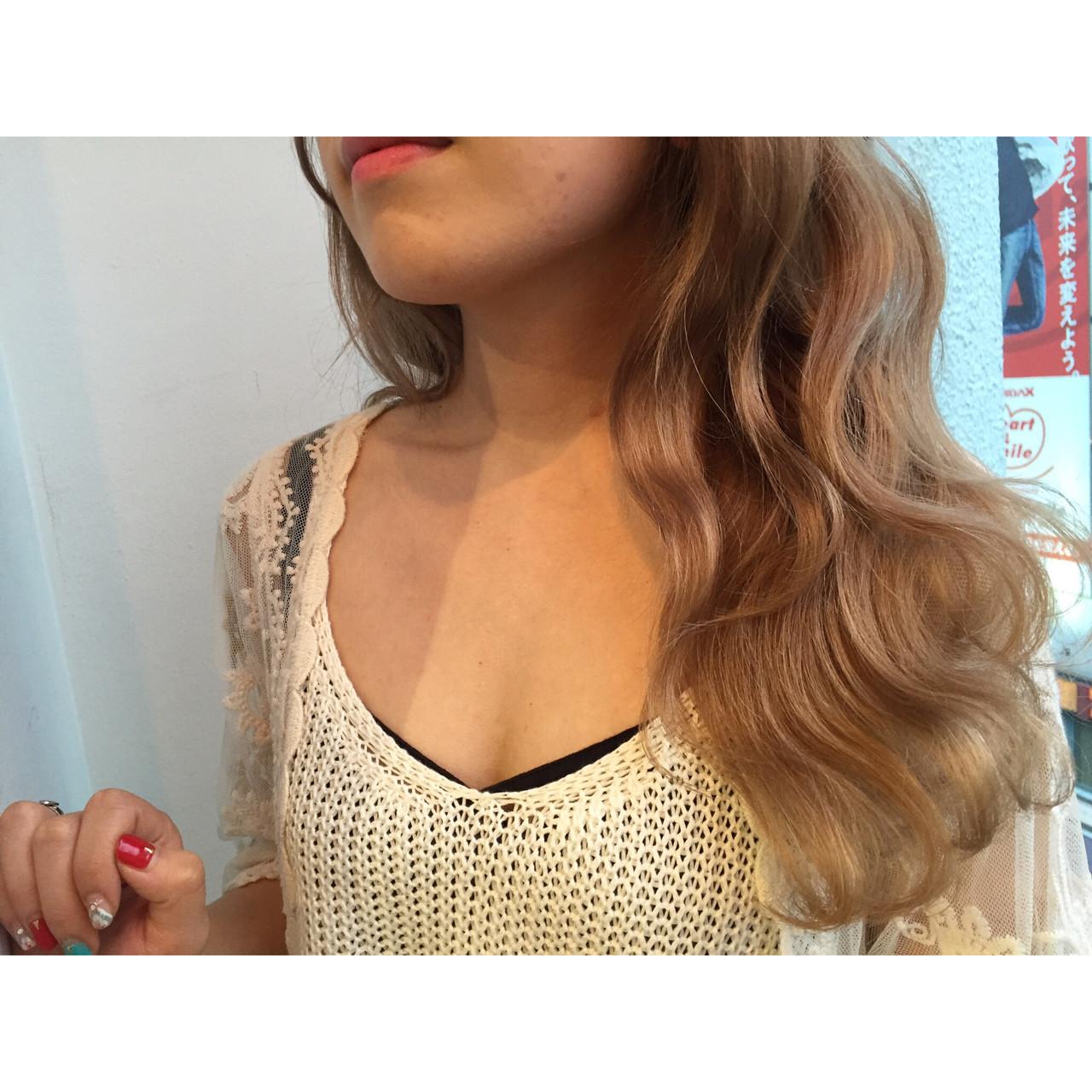 外国人風 外国人風カラー 透明感 ロング ヘアスタイルや髪型の写真・画像 | MORNING.miya/@1031miya / HAIR MORNING.