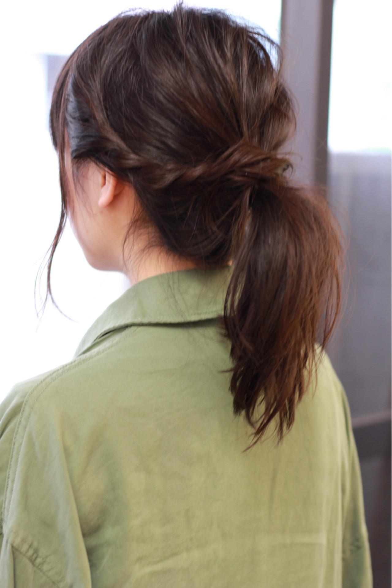 ヘアアレンジ ストリート 大人かわいい 黒髪ヘアスタイルや髪型の写真・画像