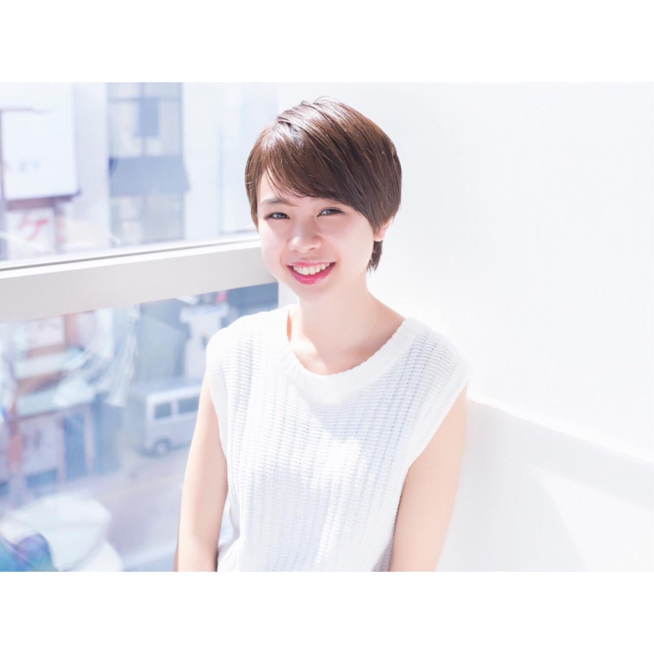 夏 デート フェミニン ショート ヘアスタイルや髪型の写真・画像 | 掛橋 翔 / air-FUKUOKA
