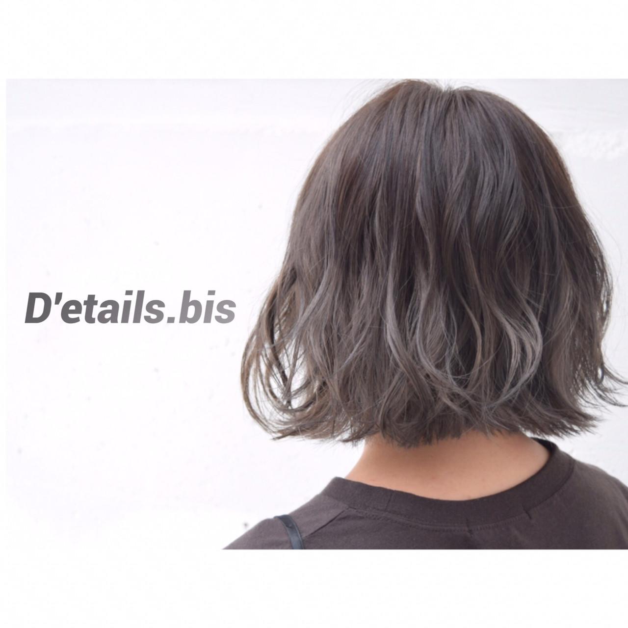 暗髪 ストリート バレイヤージュ 外国人風ヘアスタイルや髪型の写真・画像