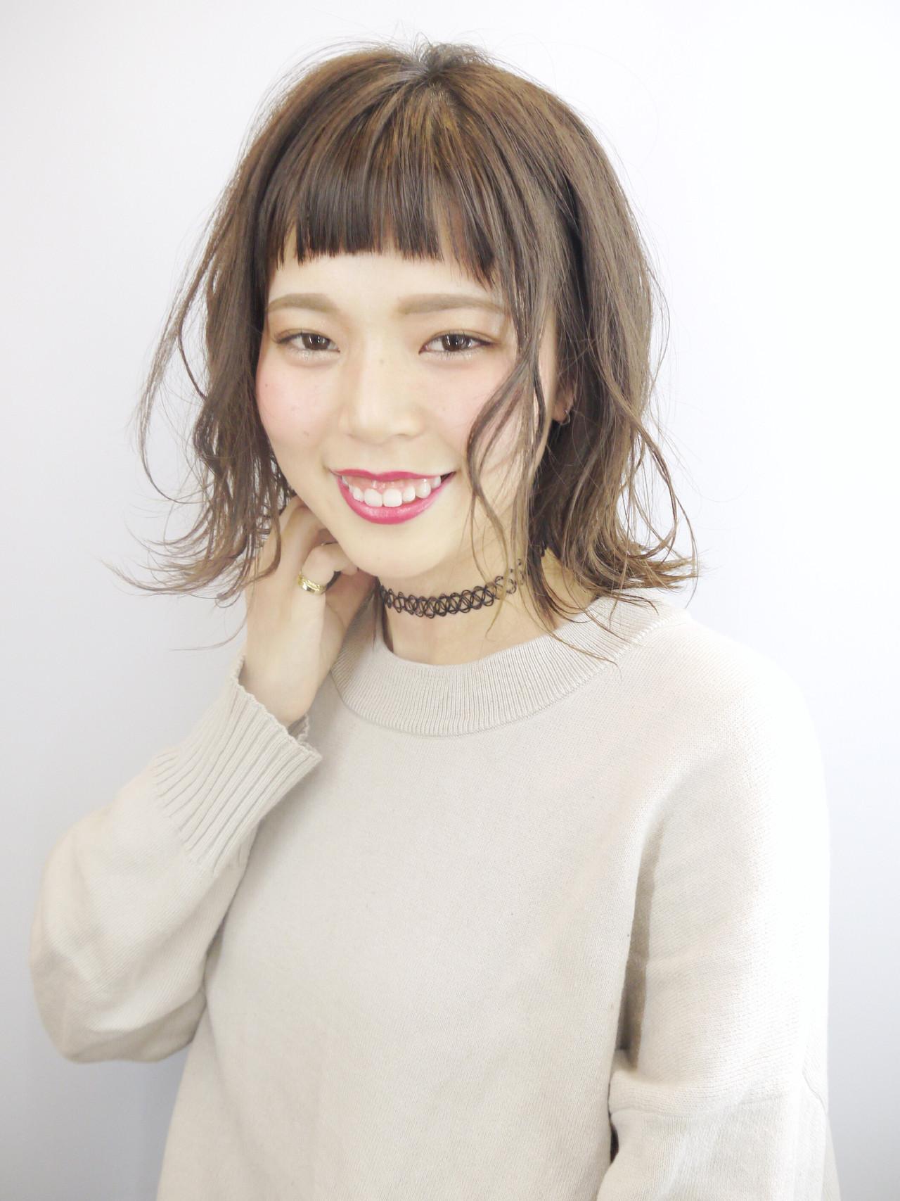 デート アンニュイほつれヘア フェミニン ウェーブ ヘアスタイルや髪型の写真・画像 | Hiroさん / H+by Airsalon
