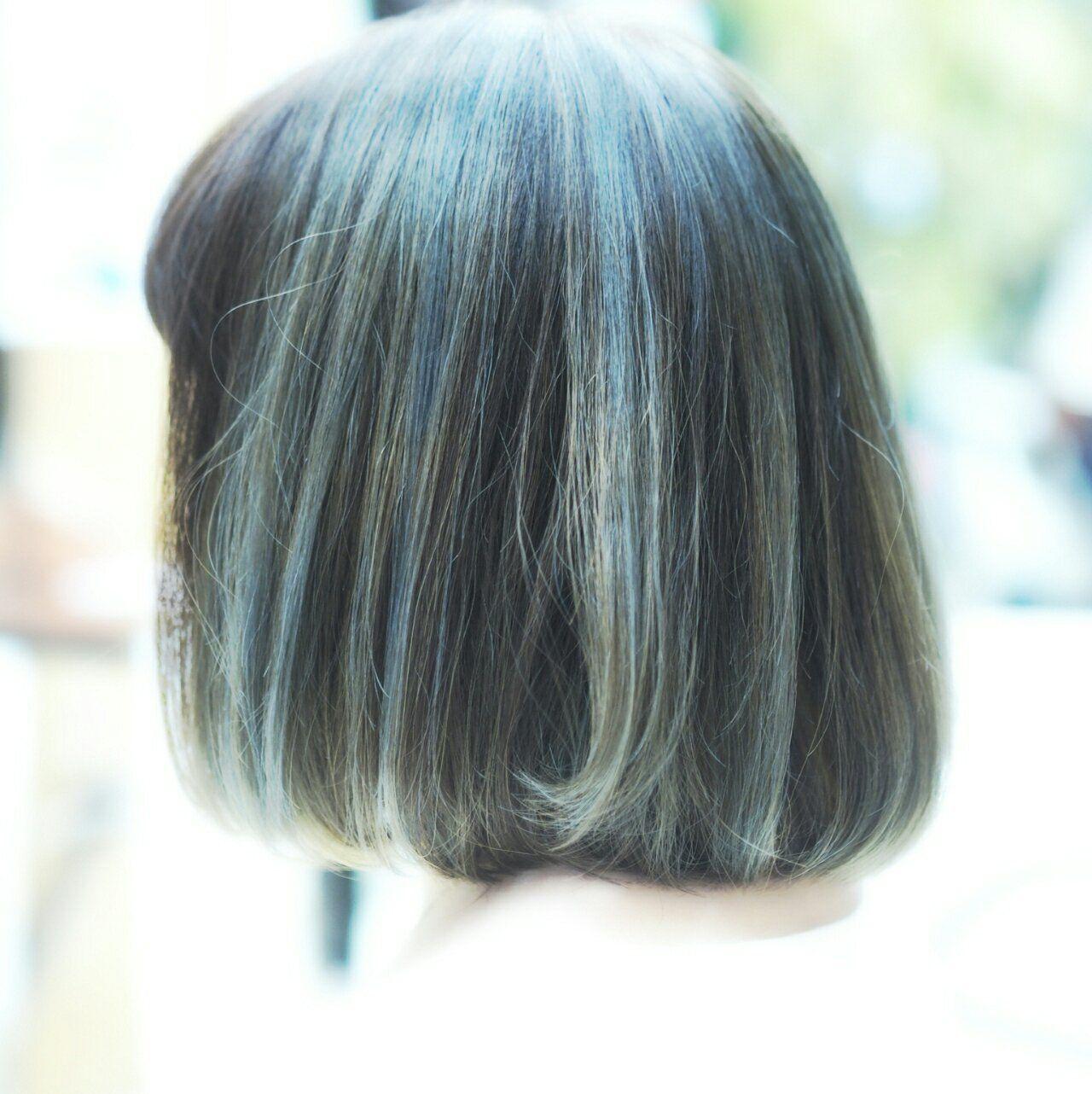 柔らかさがツボ!ミントアッシュが爽やかかわいい♡ 成田澄気 / hair resort clamp