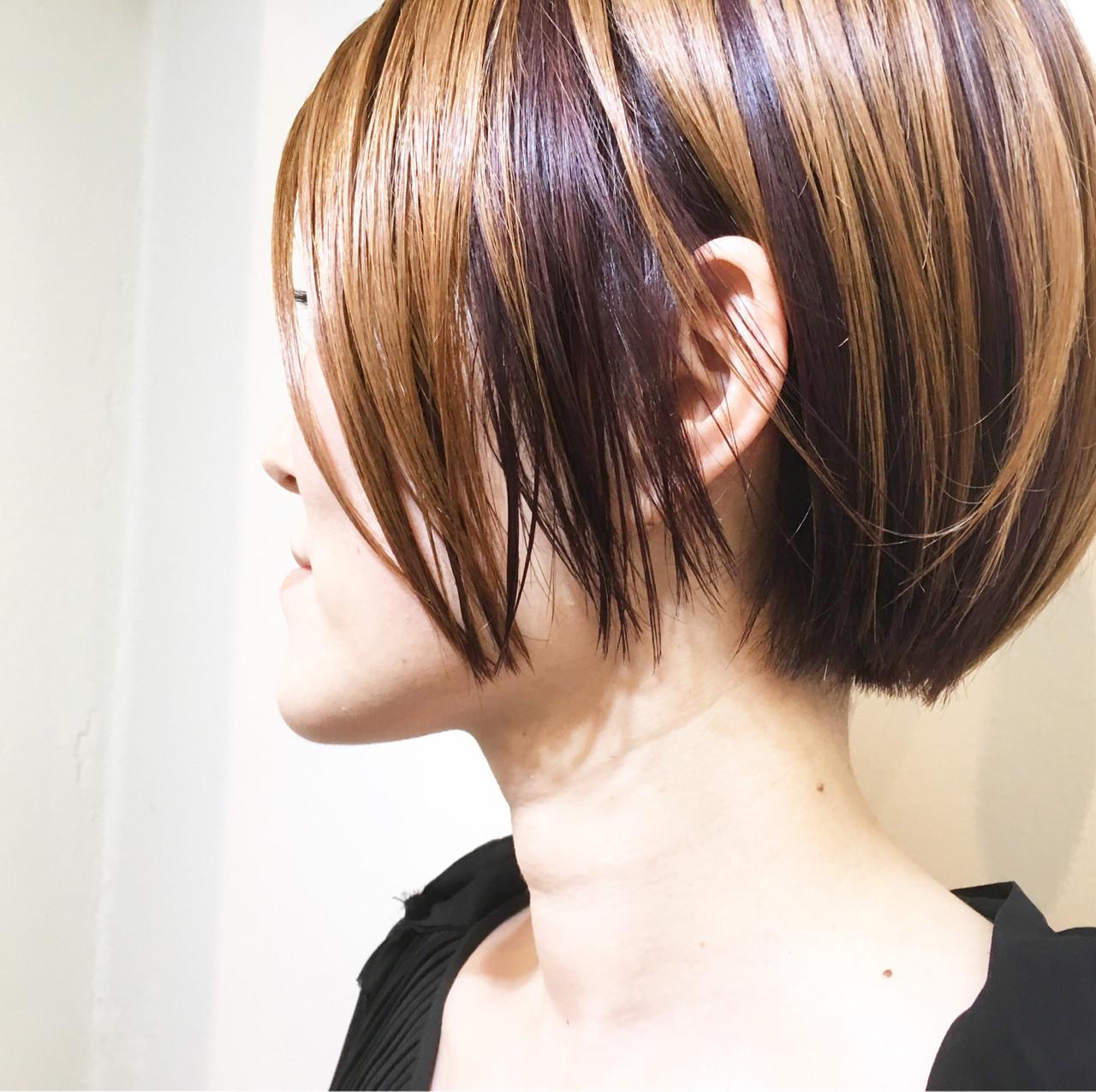 ストリート 簡単ヘアアレンジ ボブ ハイトーン ヘアスタイルや髪型の写真・画像 | COM PASS 太一 / COM PASS