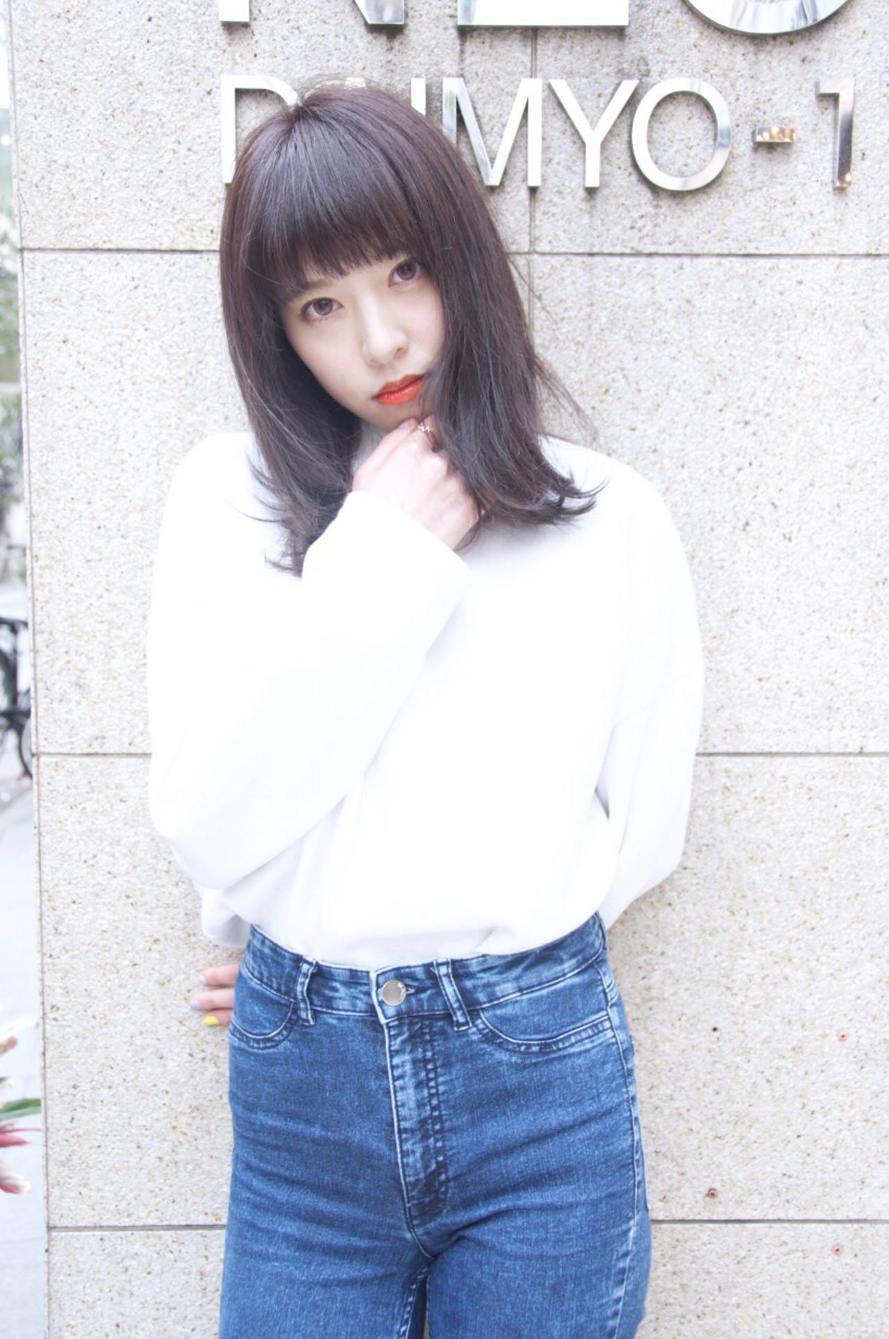 暗髪 ストリート ボブ アッシュ ヘアスタイルや髪型の写真・画像 | Ryota Yamamoto Daisy / Daisy