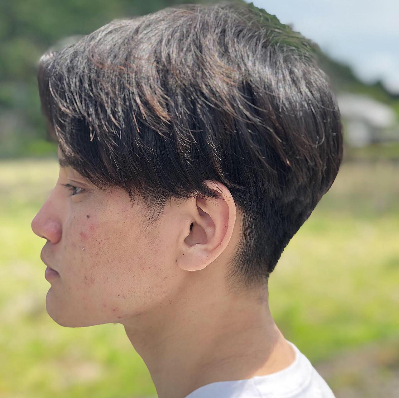 黒髪 モード メンズカット メンズヘア ヘアスタイルや髪型の写真・画像 | 堀川 加偉 / imaii scaena×colore