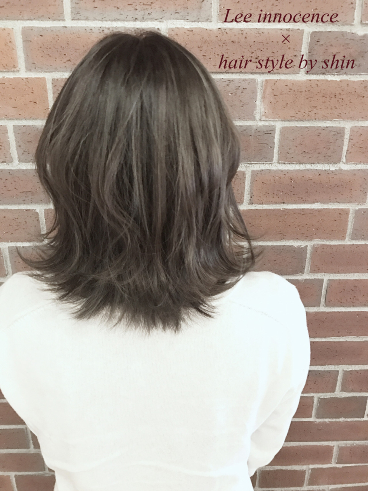 色気 ミルクティー ナチュラル ハイライト ヘアスタイルや髪型の写真・画像 | Lee innocence 宮本伸一(shin) / Lee innocence 西宮北口店