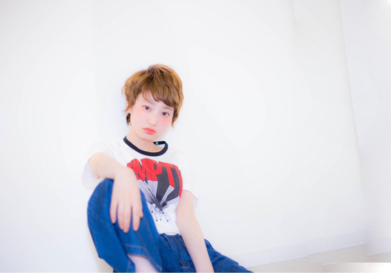 ショート ベリーショート 大人かわいい 外国人風 ヘアスタイルや髪型の写真・画像 | 吉田南歩 /