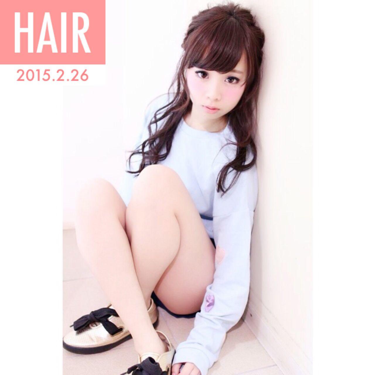 ハーフアップ ヘアアレンジ ショート 簡単ヘアアレンジ ヘアスタイルや髪型の写真・画像 | りいこ /