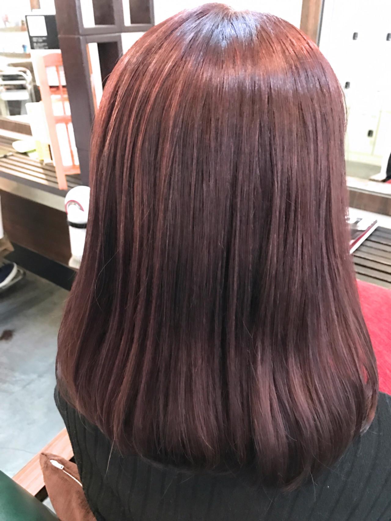 ナチュラル セミロング ミルクティー ピンク ヘアスタイルや髪型の写真・画像 | 井上瑛絵 / vicushair