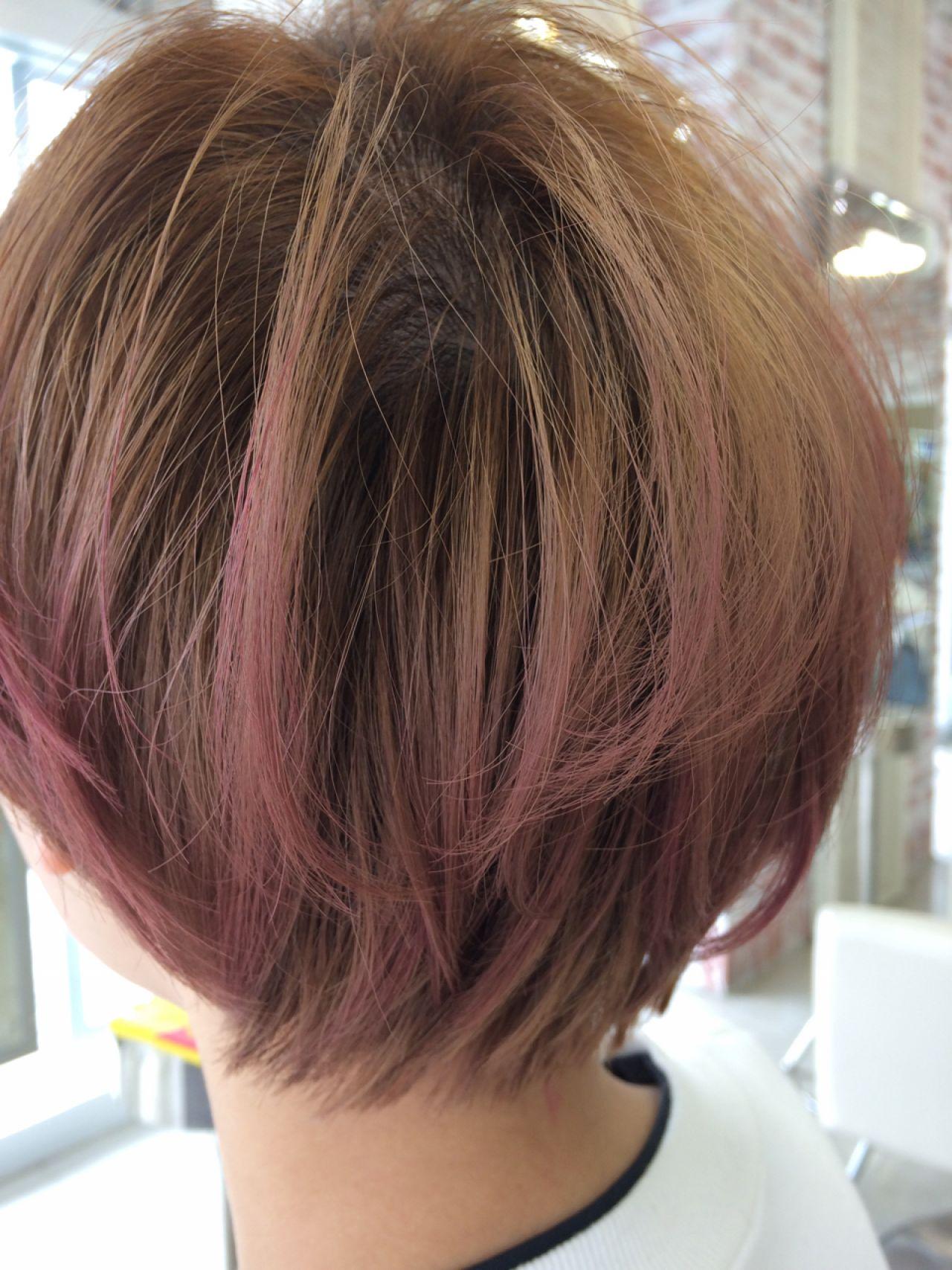 レッド 春 愛され ピンクヘアスタイルや髪型の写真・画像
