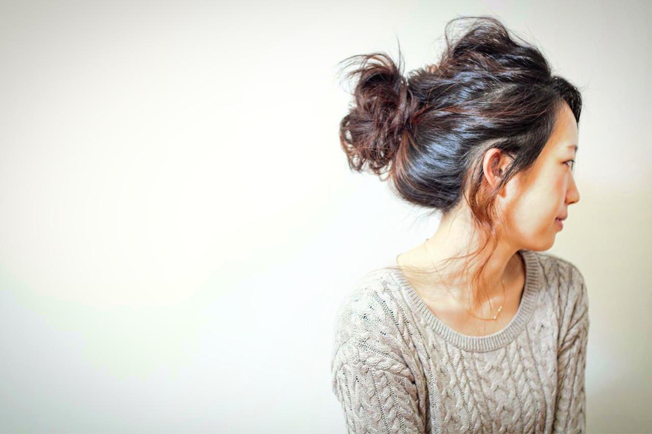 くるりんぱ ヘアアレンジ ルーズ 簡単ヘアアレンジ ヘアスタイルや髪型の写真・画像 | HIRO / DOLCE hair横堤