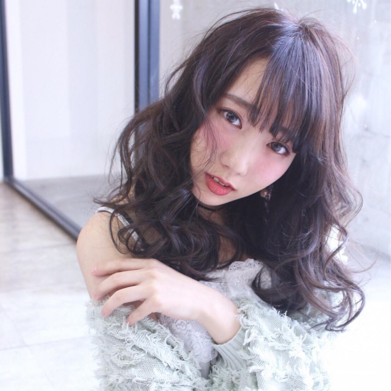ミルクティー セミロング 黒髪 アッシュ ヘアスタイルや髪型の写真・画像   riho /