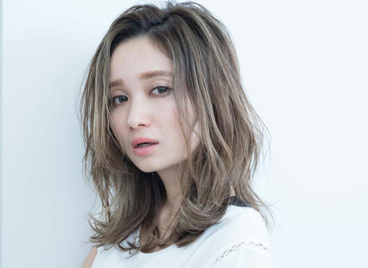 【丸顔さんに似合う髪型】ひし形シルエットの小顔効果でより可愛く♡ 西尾 隆介