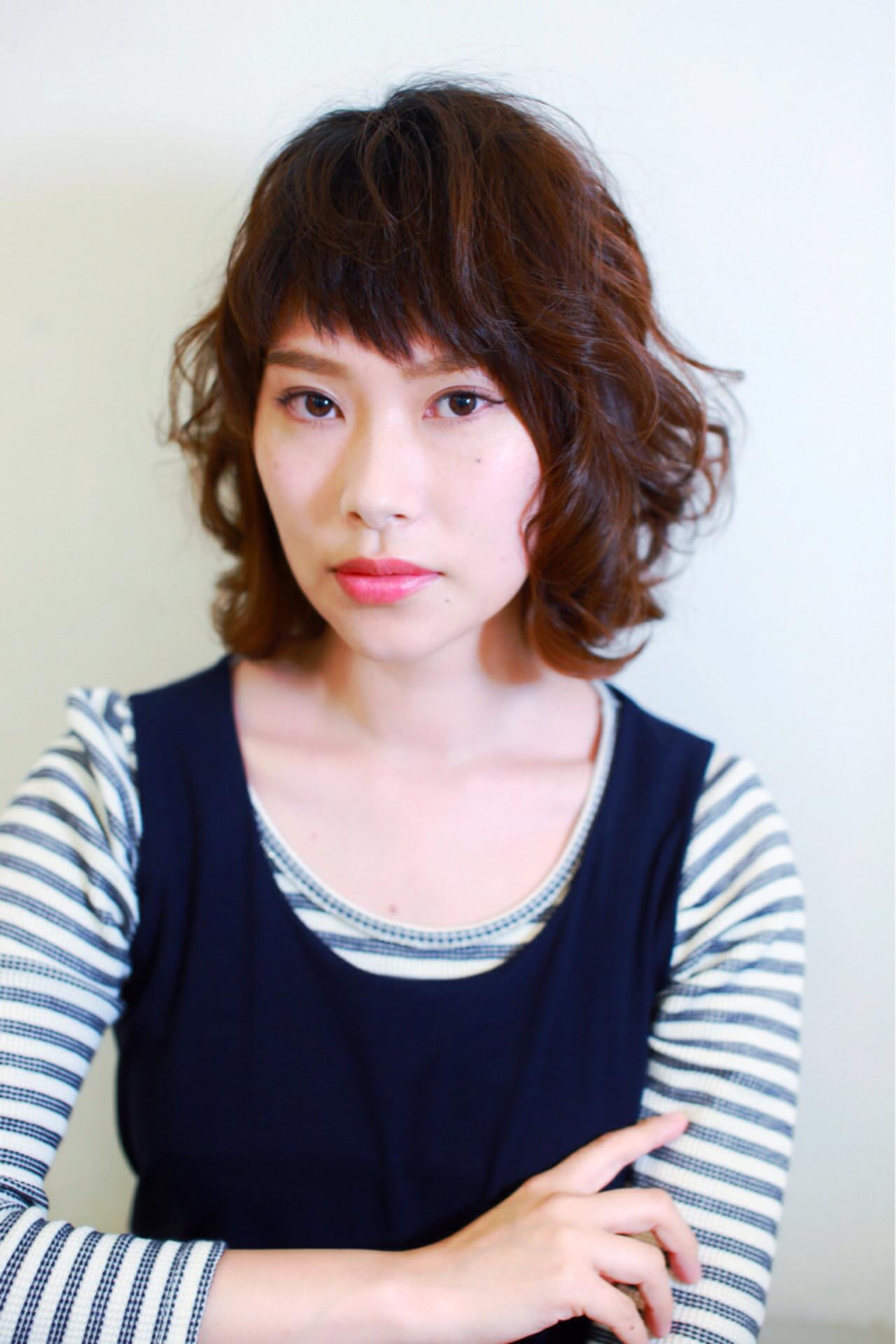 ストリート パーマ フェミニン ゆるふわ ヘアスタイルや髪型の写真・画像 | 友田 徳政 / Hair dressing Bis!