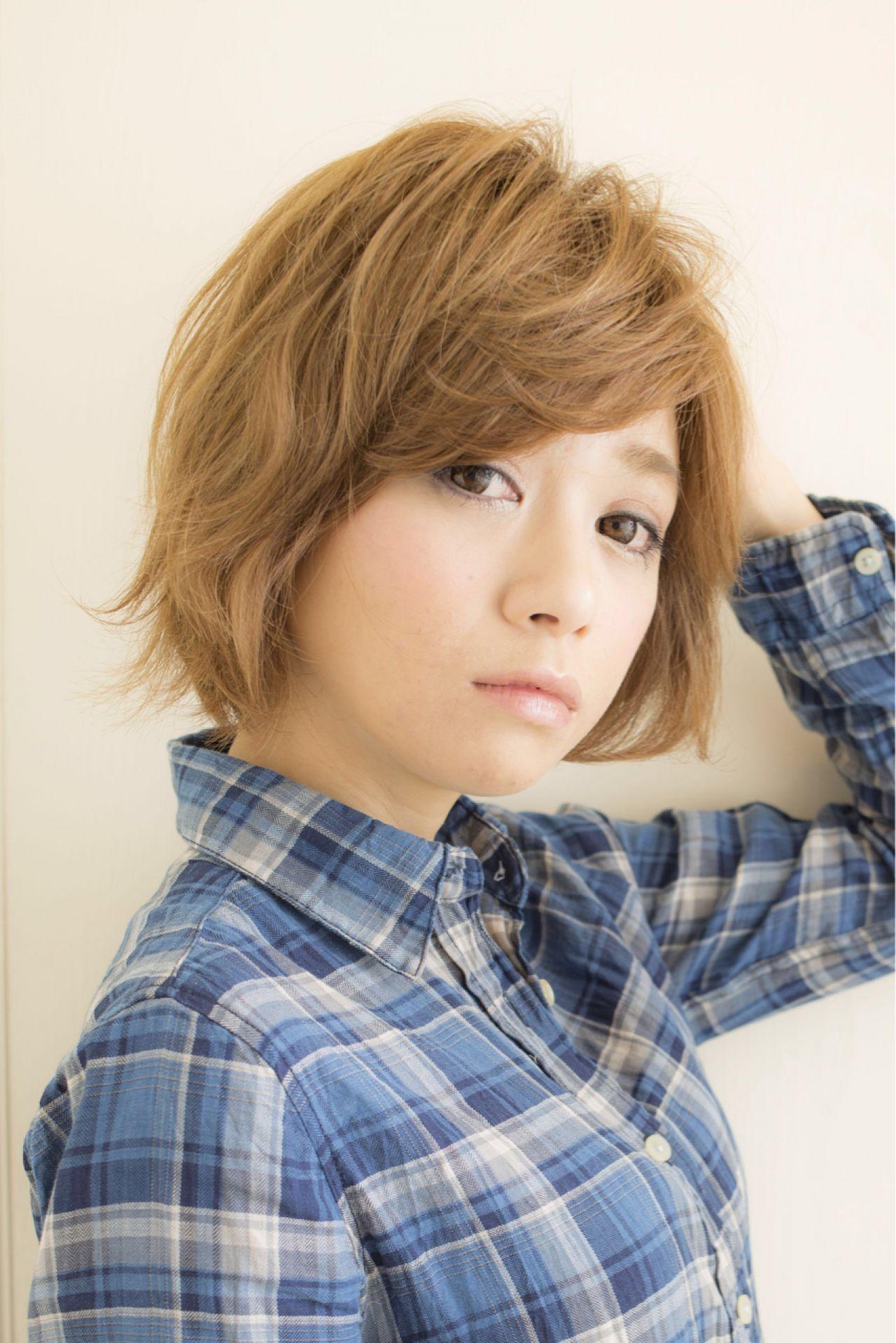 ゆるふわ 大人かわいい ショート ナチュラル ヘアスタイルや髪型の写真・画像   Mitsutaka Nikaido / Ravi hair design