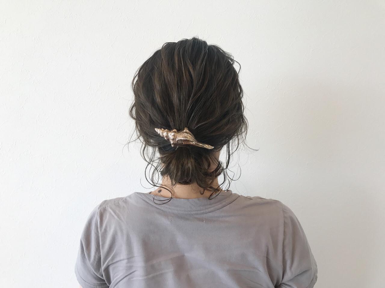 夏 デート 涼しげ ヘアアレンジ ヘアスタイルや髪型の写真・画像 | 宇渡 裕一 / Lillie hair&spa
