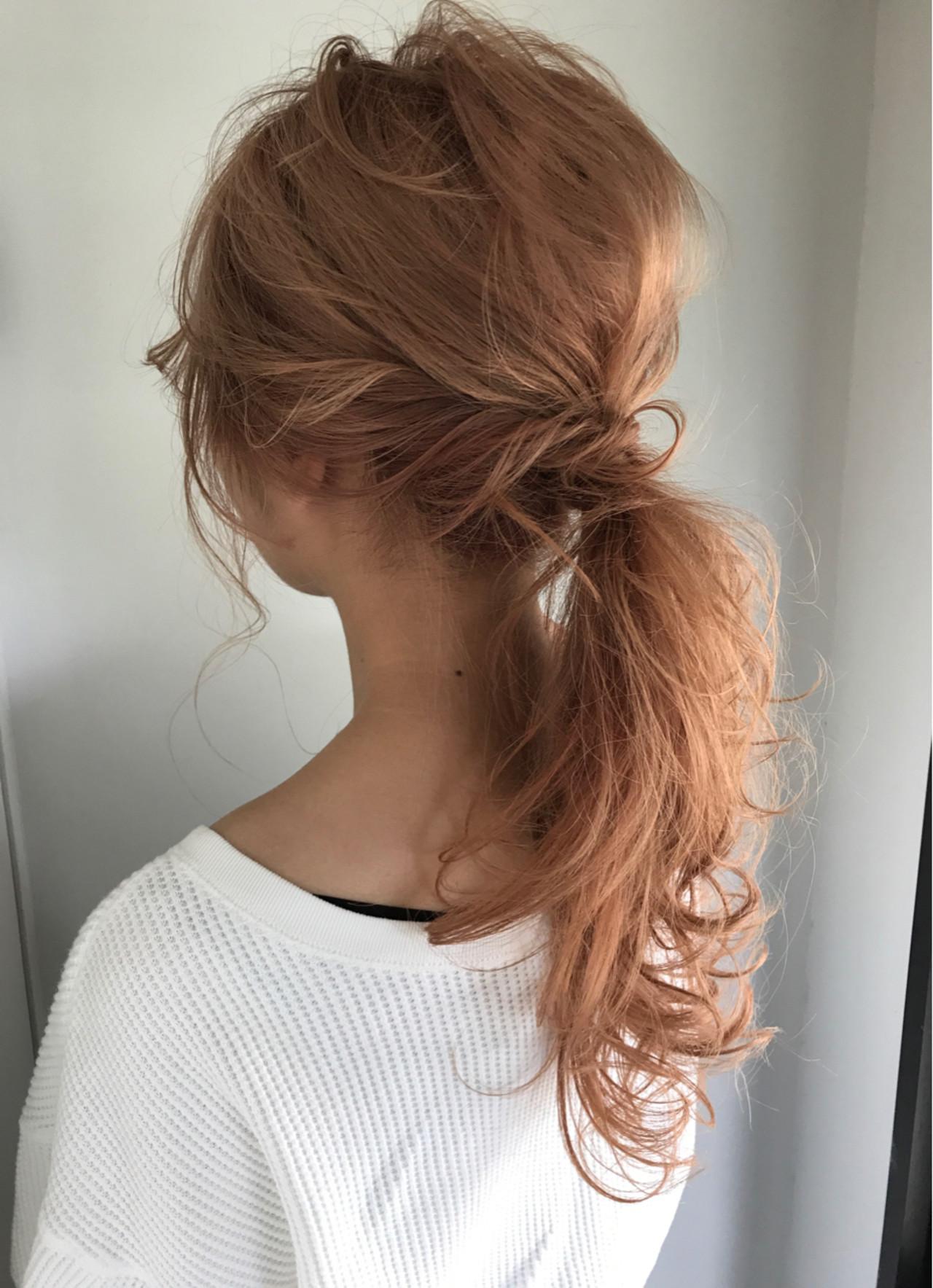 ナチュラル 簡単ヘアアレンジ セミロング ウェーブ ヘアスタイルや髪型の写真・画像 | Keiichi Suzuki/鈴木圭一 / CALVINA&LOWE
