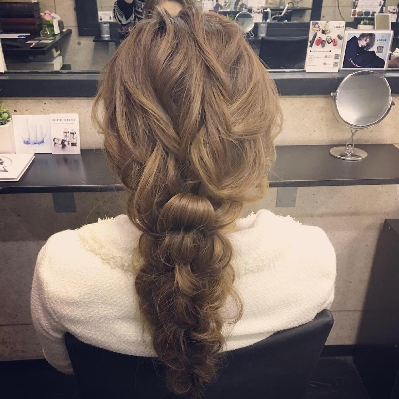 結婚式 ヘアアレンジ エレガント ロング ヘアスタイルや髪型の写真・画像   シンディー(店長)/shinji / hair make salon Revier