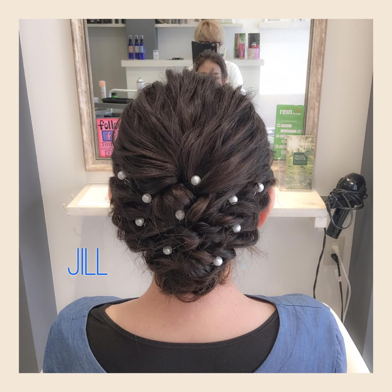 パーティ ヘアピン ショート パールアクセ ヘアスタイルや髪型の写真・画像 | 花房 佑典 / Jill / Hair Design Jill