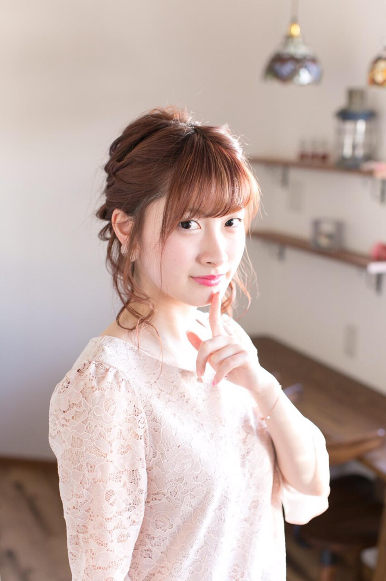 結婚式 ショート 簡単ヘアアレンジ ヘアアレンジ ヘアスタイルや髪型の写真・画像 | 岸本美咲 /