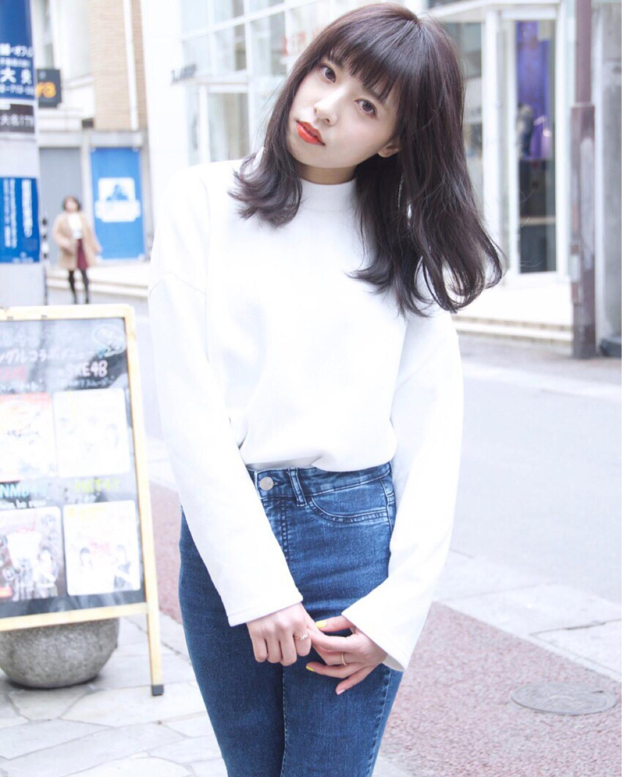 ストレート 暗髪 外国人風 ストリート ヘアスタイルや髪型の写真・画像   Ryota Yamamoto Daisy / Daisy