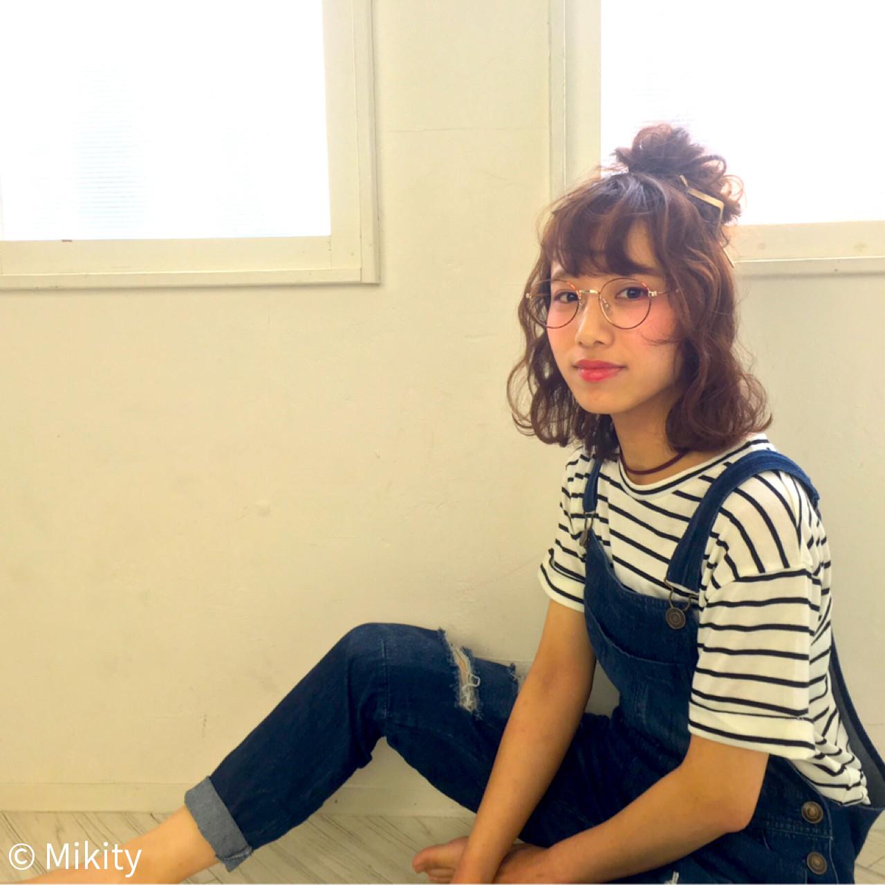 ストリート ボブ ピュア ハーフアップ ヘアスタイルや髪型の写真・画像 | Miki /