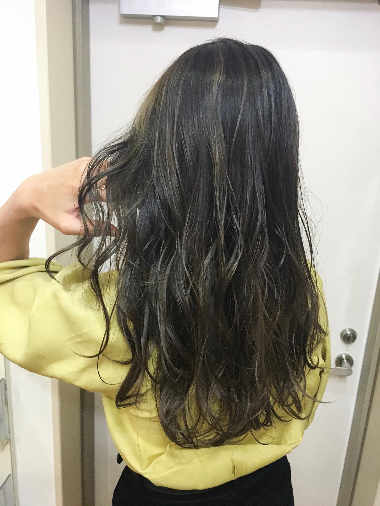 バレイヤージュ ハイライト ロング 大人ハイライト ヘアスタイルや髪型の写真・画像 | 《町田の美容師》キタダヒロキ / Hair Frais Make