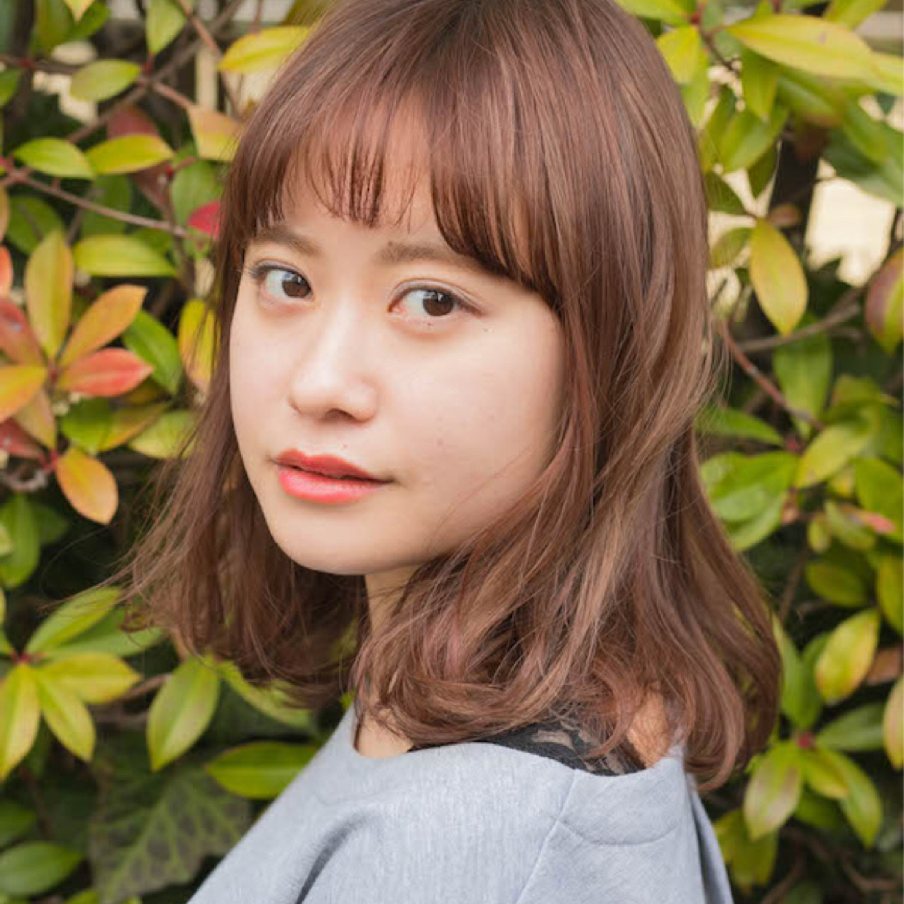 デート 前髪あり アンニュイ ミディアム ヘアスタイルや髪型の写真・画像 | 竹澤 優/relian青山Top stylist / relian青山