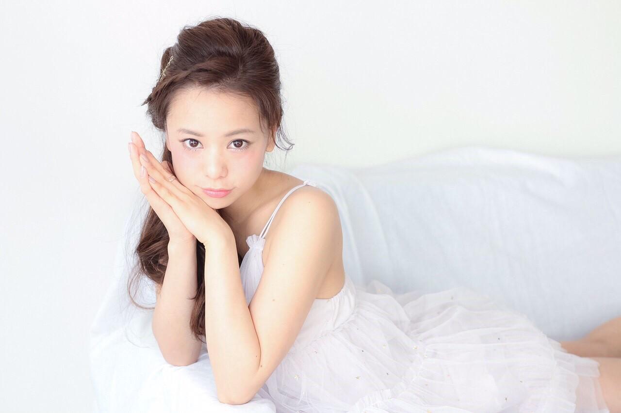 ショート 簡単ヘアアレンジ ゆるふわ ロング ヘアスタイルや髪型の写真・画像   田中 紗貴 /