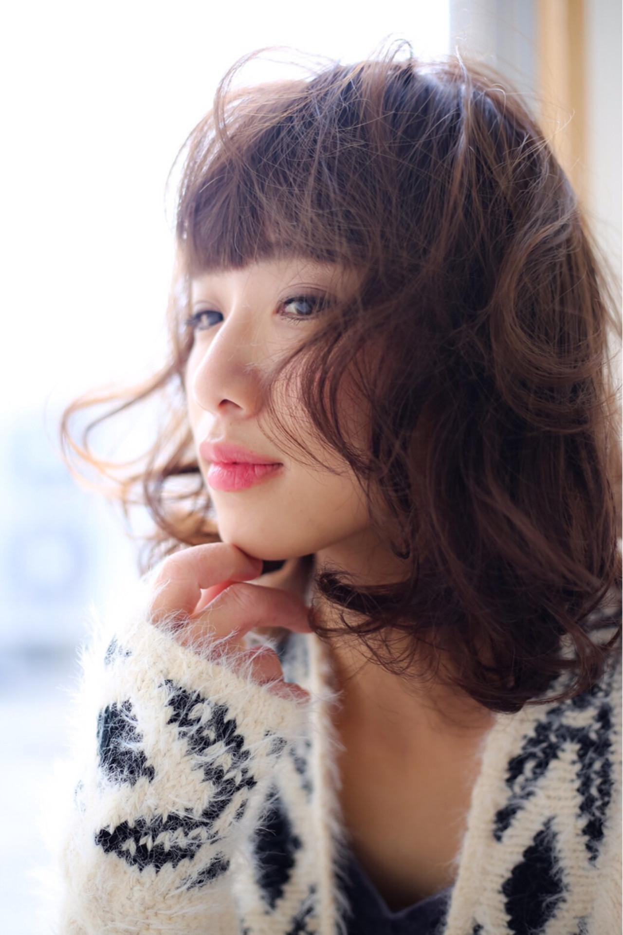 フェミニン こなれ感 ミディアム ナチュラル ヘアスタイルや髪型の写真・画像 | Miki /
