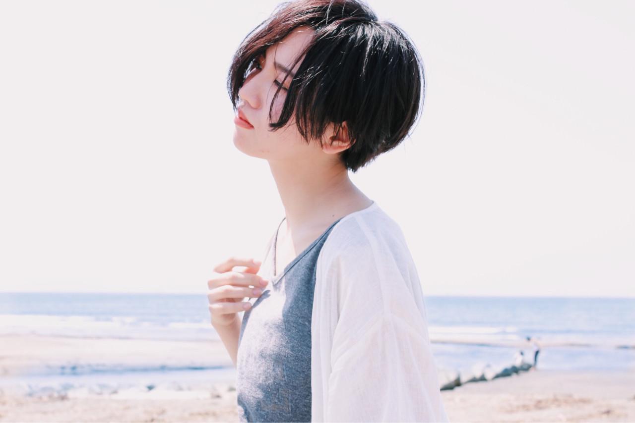 ゆるふわ ナチュラル ショート デート ヘアスタイルや髪型の写真・画像 | CICATA 鎌倉【関口 裕樹】ショート/ボブ / CICATA