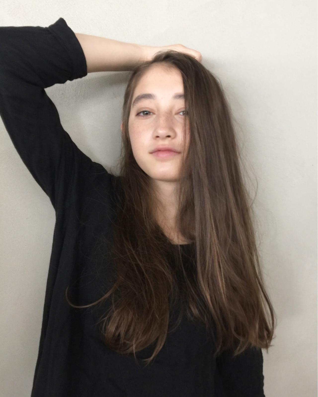 【ロング編】秋冬はこの色で決まり♡アッシュで作る暗髪が可愛すぎる 津崎 伸二 / nanuk