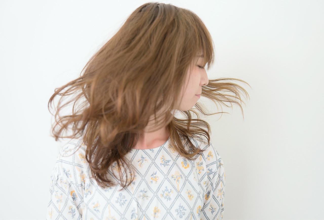 大人かわいい フェミニン ゆるふわ セミロング ヘアスタイルや髪型の写真・画像 | ATSUKI MATSUMOTO / nonoi..