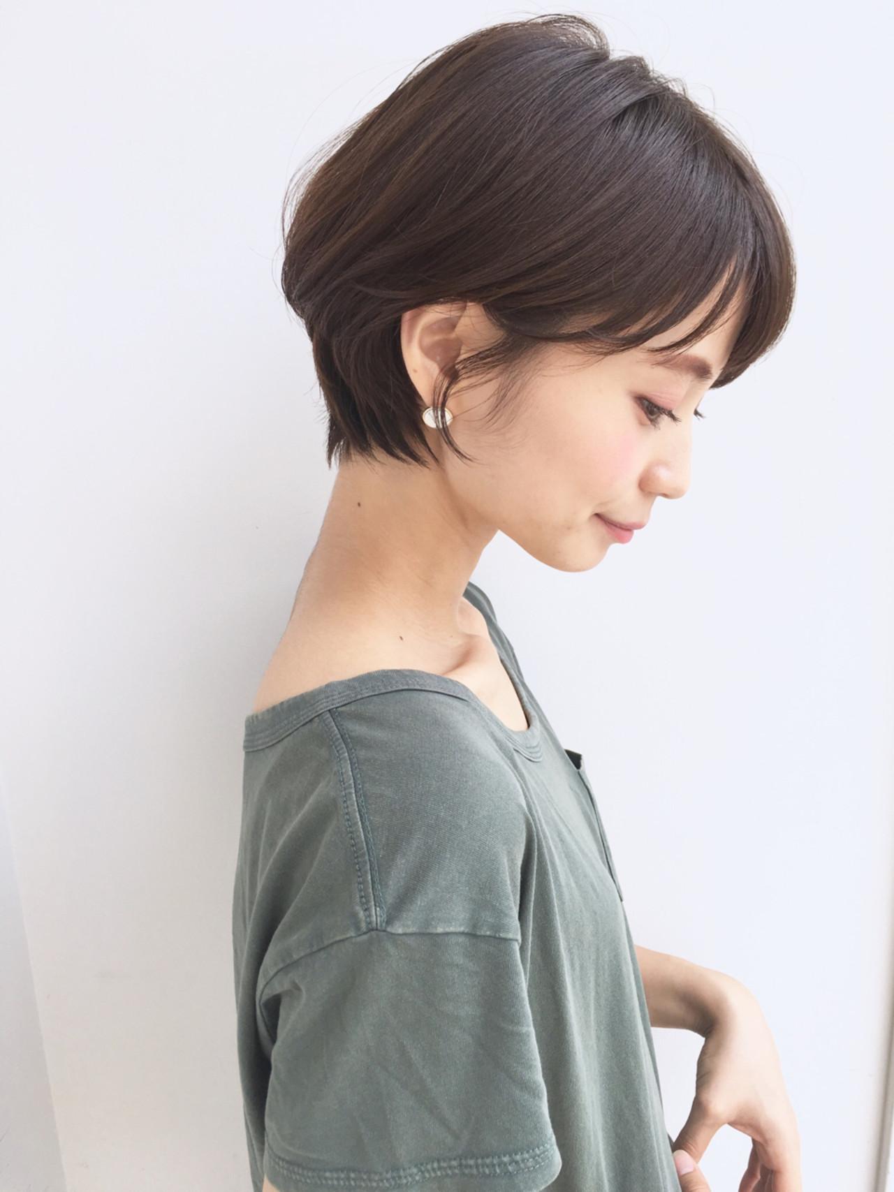 ナチュラル 簡単ヘアアレンジ デート オフィス ヘアスタイルや髪型の写真・画像 | ショートボブの匠【 山内大成 】『i.hair』 / 『 i. 』 omotesando