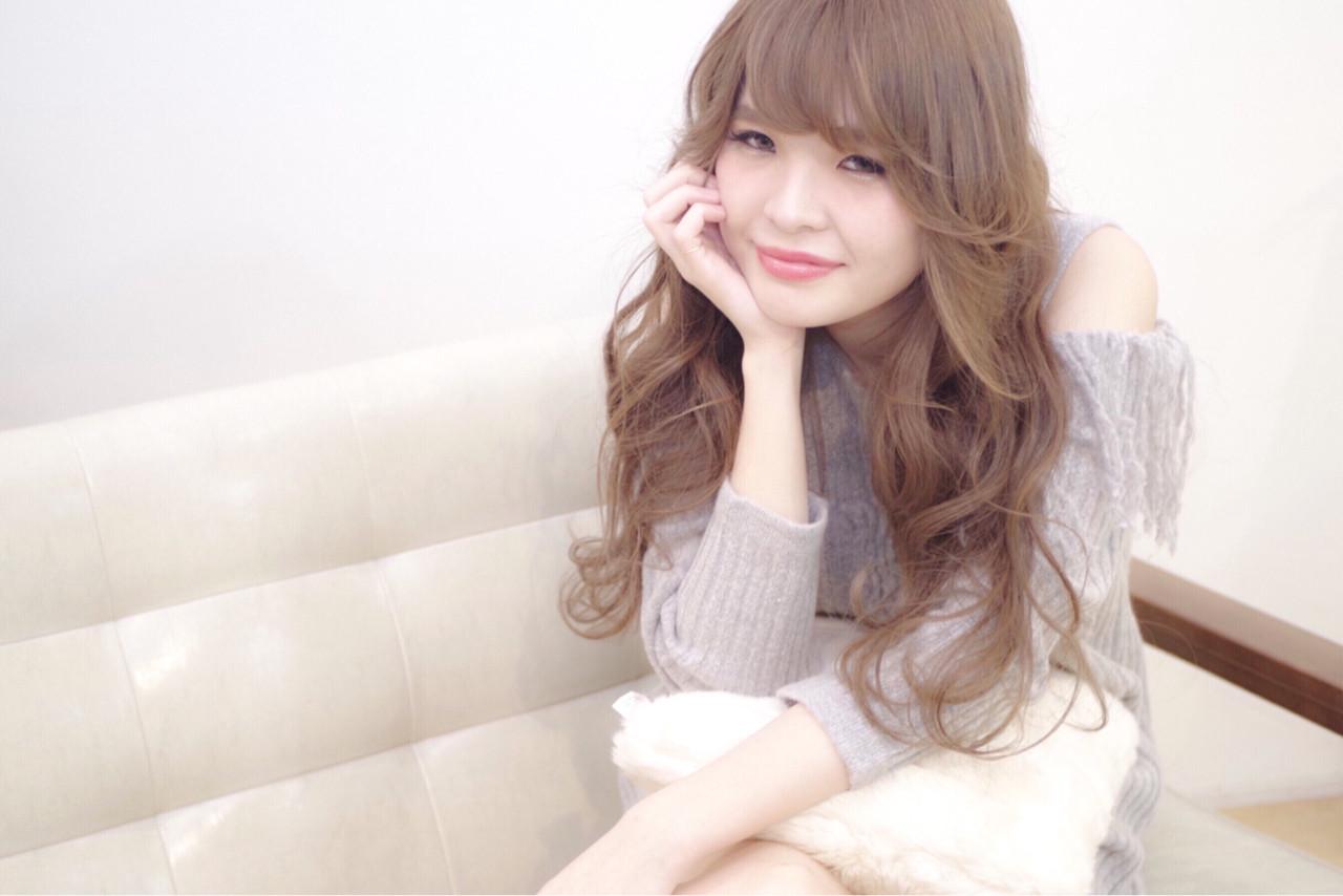 フェミニン ロング ダブルカラー 外国人風カラー ヘアスタイルや髪型の写真・画像 | シモハラ ショージ / NT  hairdesignbase