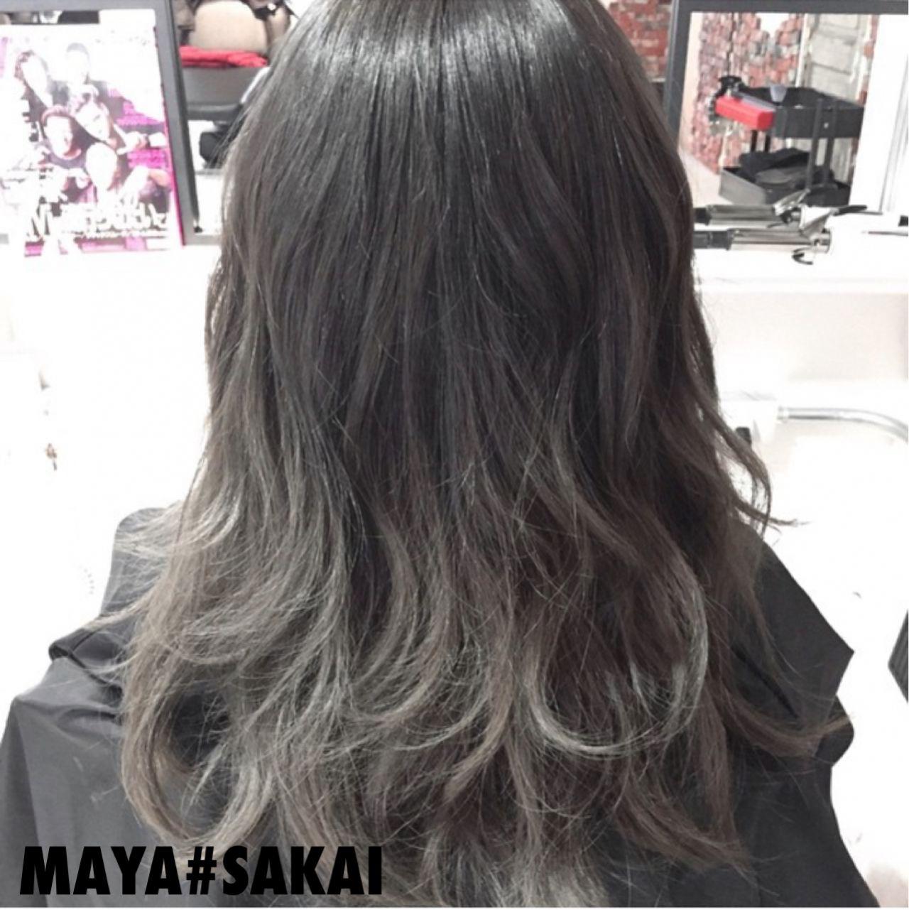 大注目の暗髪×グラデーションまとめ♡ポイントは毛先とハイライト maya#sakai
