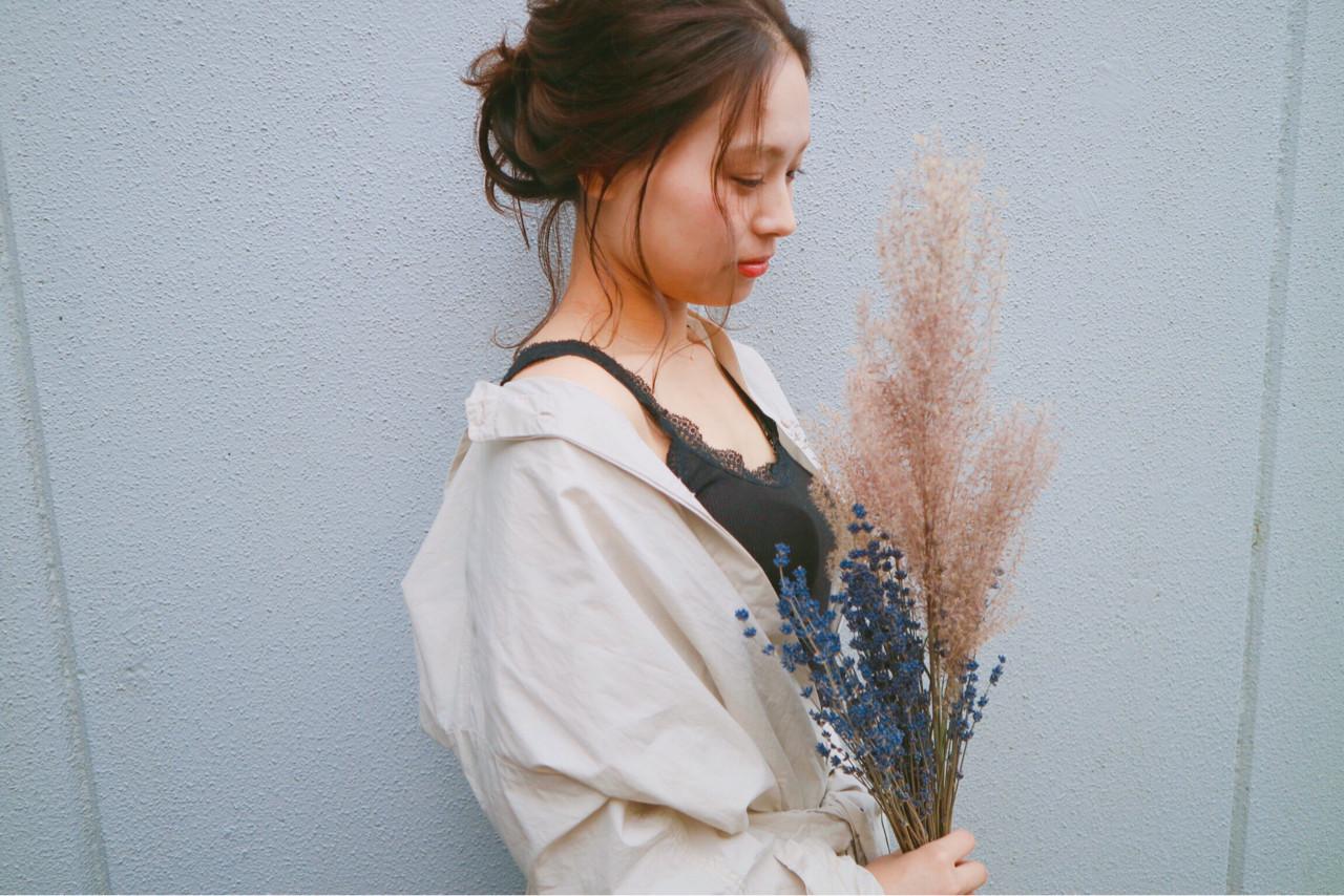 ヘアアレンジ 結婚式 冬 モード ヘアスタイルや髪型の写真・画像   Namiho Okajima / emifa
