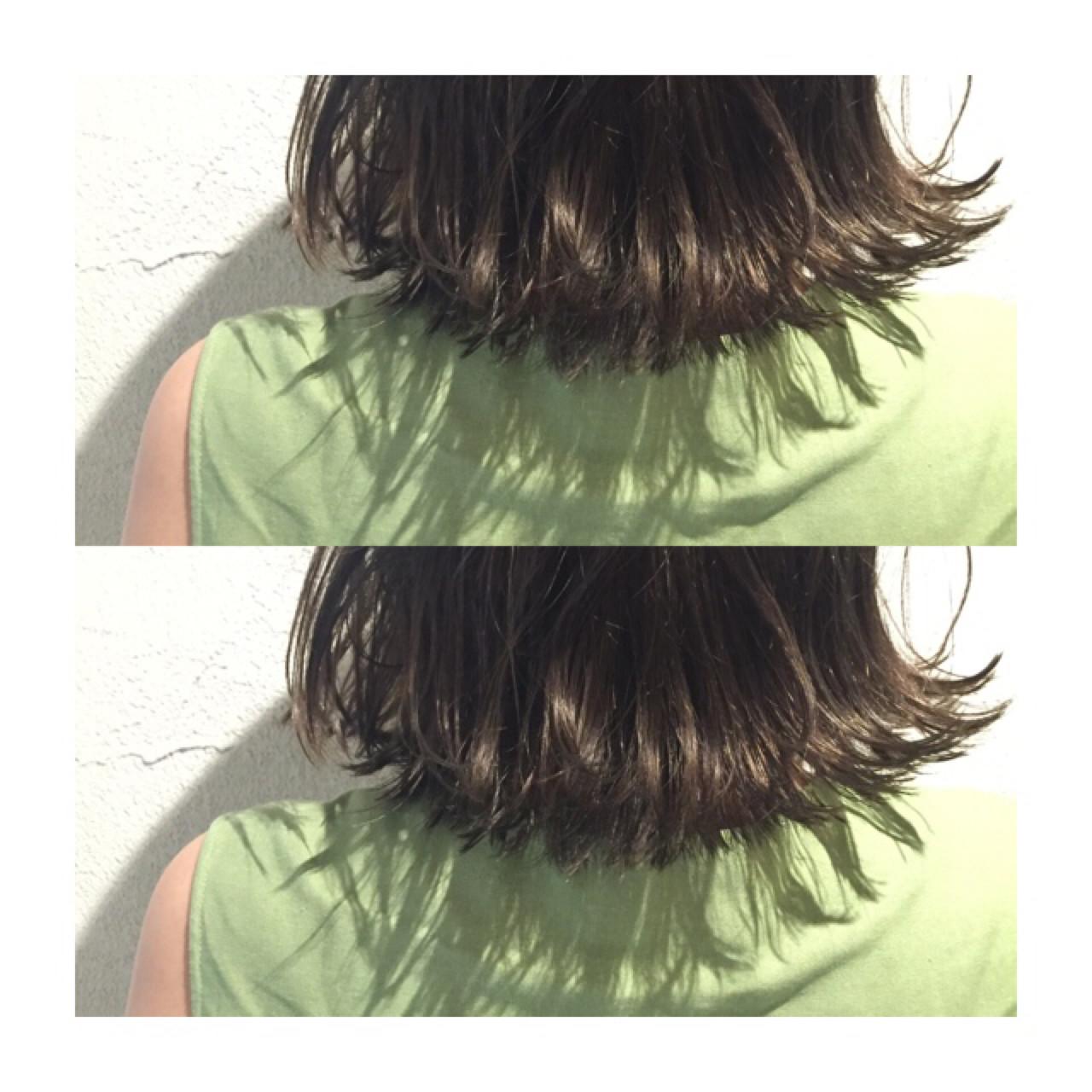ボブ 外国人風 アッシュ ハイライト ヘアスタイルや髪型の写真・画像   アンドウナオユキ / F.O.F