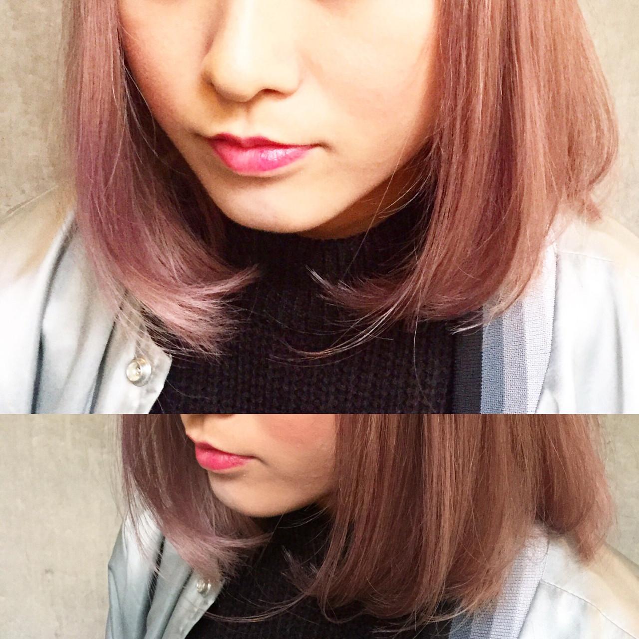 グラデーションカラー ストリート 大人かわいい 外国人風 ヘアスタイルや髪型の写真・画像 | bibito crew / bibito