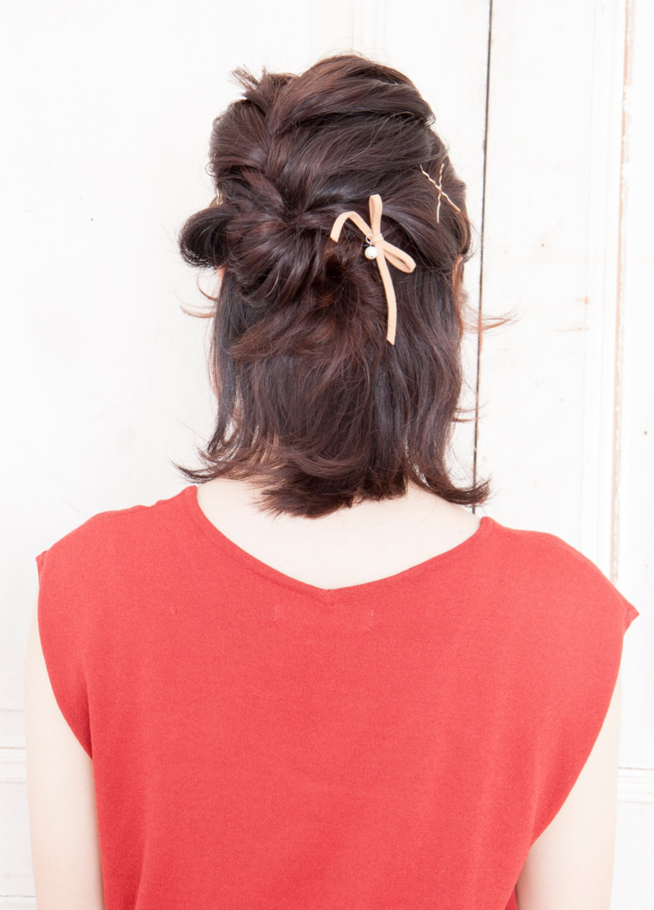 簡単ヘアアレンジ ハーフアップ 大人女子 ゆるふわ ヘアスタイルや髪型の写真・画像 | ケンタロウ / TIARA 本店